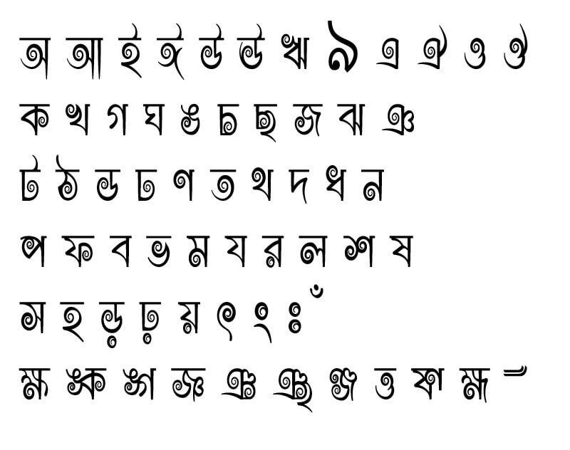 Rajon Shoily font